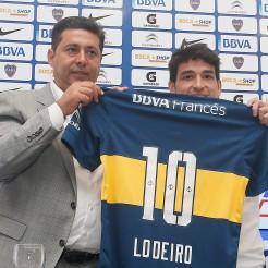 zzzznacd2 NOTICIAS ARGENTINAS BAIRES, FEBRERO 5: Nicolas Lodeiro fue presentado hoy como nuevo jugador del platel de Boca Junios. Foto NA: Javier Garcia Martino zzzz