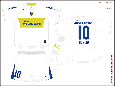 2005 Boca Juniors Away